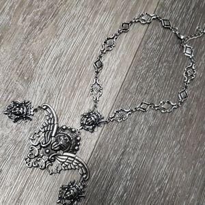Jewelry - Gothic Royalty Dark Angel Necklace